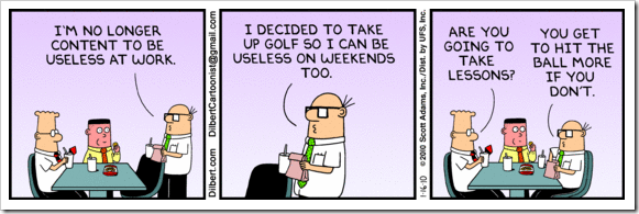 Dilbert on Golf