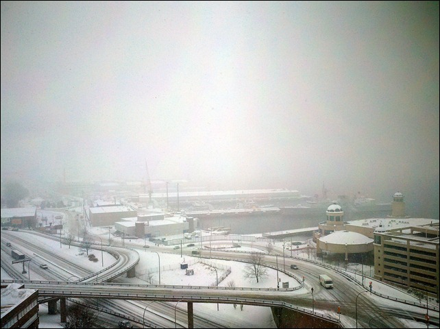 Halifax Bridge Snow